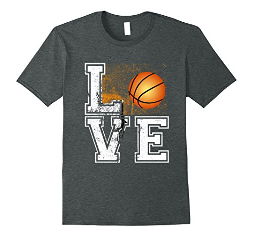 Mens Love Basketball Court League Game Day Sports T Shirt Small Dark Heather