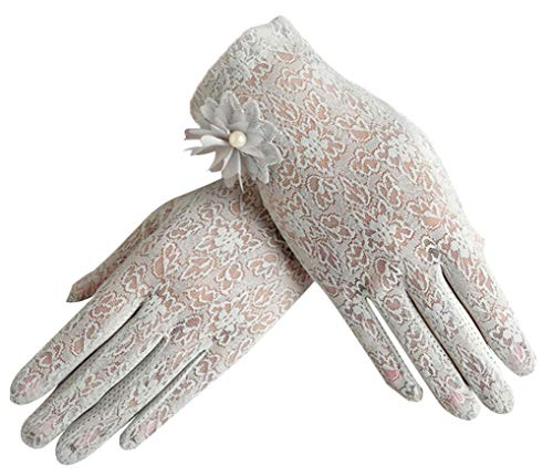 Women's Summer Screentouch Gloves Lace Anti-skid Outdoor Driving Gloves, Gray]()