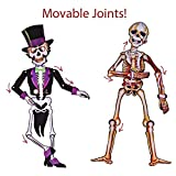 Halloween Party Supplies Cute Fun Party Favors Decoration All-in-One Pack for Kids Theme Party Include Paper Plate, Cup, Balloon, Table Cloth, Banners and Hanging Skeleton Props 88 PCs