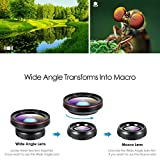 Amir 2 in 1 Professional HD Camera Lens Kit, 0.6X Super Wide Angle Lens, 15X Macro Lens, Clip-On Cell Phone Lens for iPhone 7/7 Plus/6s/6s Plus/6/5, Samsung & Most Smartphones