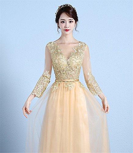Drasawee Empire Drasawee Gold Kleid Drasawee Damen Empire Gold Kleid Empire Drasawee Gold Damen Damen Damen Kleid afwBazq