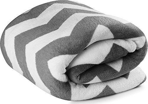 Fleece Grey Fabric Blanket Lightweight