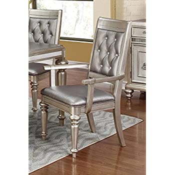 Amazon Com Danette Upholstered Arm Chairs With Tufted