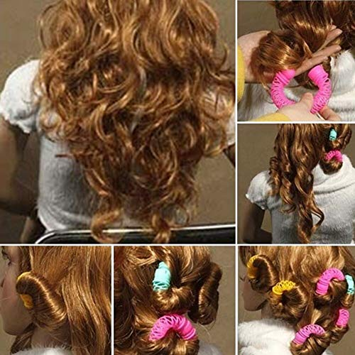 Hairdress Magic Bendy Hair Styling Roller Curler Spiral Curls DIY Tool 8 Pcs from Bazzano