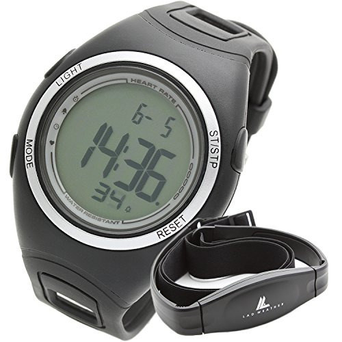 Digital Heart Rate Monitor Watch ([LAD WEATHER] Heart Rate Monitor calorie counter Jogging/Walking/Running Chest Strap Sport Watch)