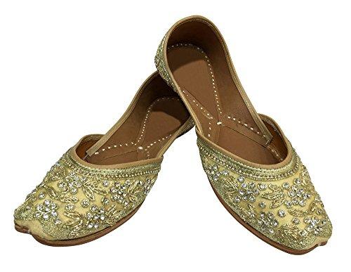 Step n Style - Sandalias de vestir de tela para mujer dorado dorado