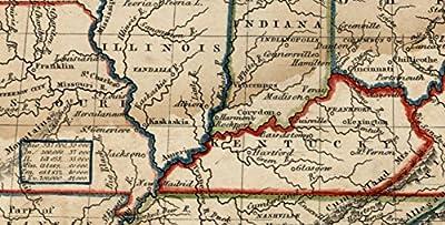 Western States Missouri Arkansas Kentucky populations 1831 Goodrich Boynton map