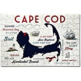 Plymouth, Massachusetts - Cape Cod - Typography and Icons (12x18 Premium Acrylic Puzzle, 130 Pieces)