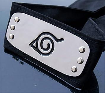 Naruto Shippuden Cosplay Hidden Black Leaf Village Konoha Ninja Headband
