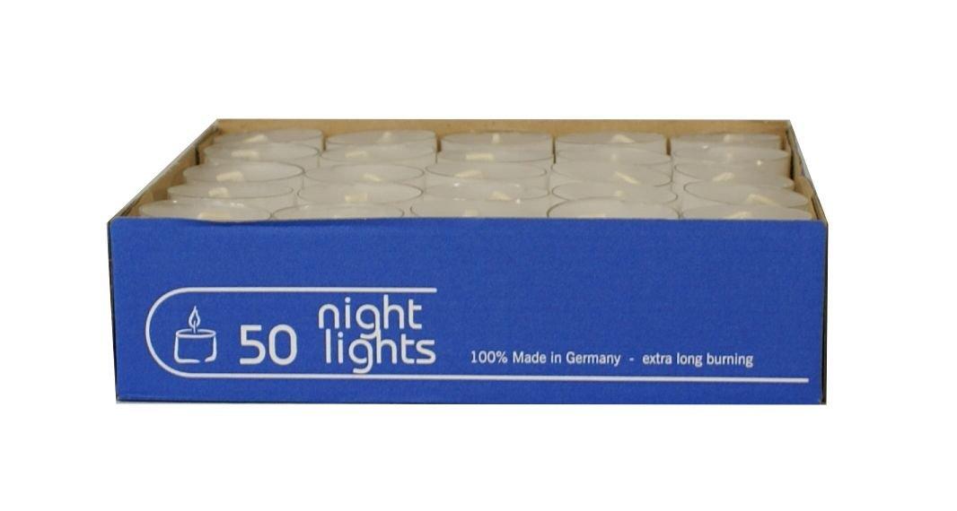 8/Heures Kerzen 7 Wenzel 100/ Pot Transparent Bougies Chauffe Plats Nightlights 2/x 50