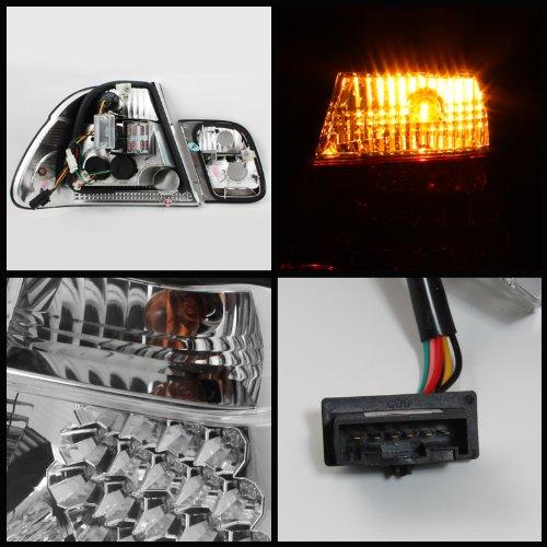 Carpart4u BMW E46 3-Series 4Dr LED Chrome Tail Lights & LED Day Time Running Light Package
