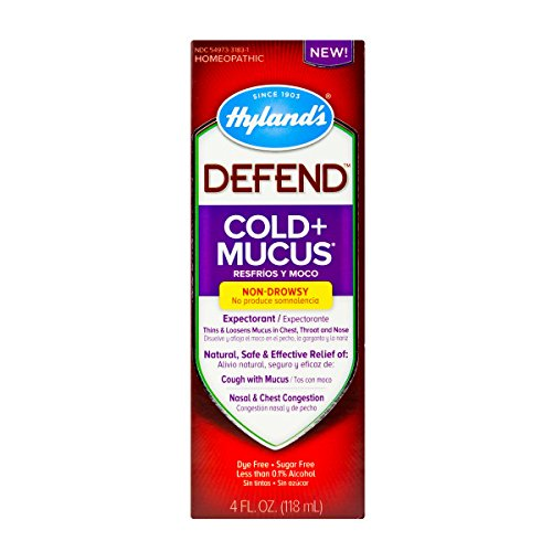 Cold and Cough Mucus Relief Decongestant Defend by Hyland#039s Homeopathic Cold Plus Mucus 4 Fluid Ounce