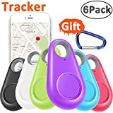 GBD 6 Pack GPS Tracker Smart Key Finder Locator for Kids Boys Girls Pets Keys Wallet Keychain Car Dog Cat Child Bag Phone Alarm Anti Lost Selfie Shutter Wireless Seeker Christmas Birthday Gifts