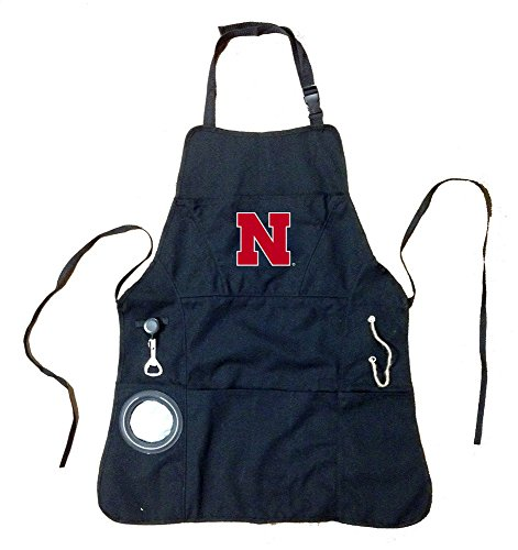 Team Sports America Nebraska Huskers Logo Grilling Utility Apron ()