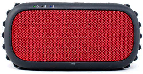 ECOXGEAR - ECOROX Rugged and Waterproof Wireless Bluetooth Speaker - Red
