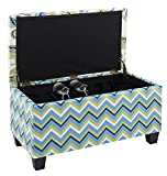 Jennifer Taylor Home, Storage Entryway Bench, Multicolored, 100% Cotton, Hand Tufted