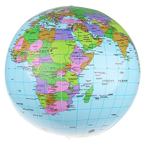 Sanheshun 36cm14 Inflatable Earth World Globe Map Beach Ball – Geographical Map of Uae