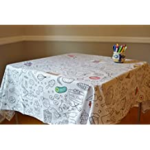 The Coloring Table - Food Fun Tablecloth