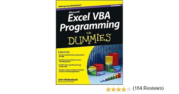 Excel VBA Programming For Dummies: John Walkenbach: 9781118490372 ...