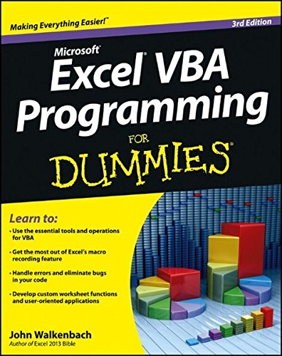 Excel VBA Programming For Dummies by Unknown