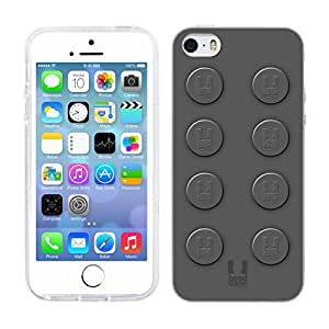 Head Case Designs Grey Building Blocks Soft Gel Back Case Cover for Apple iPhone 5 5s by ruishername