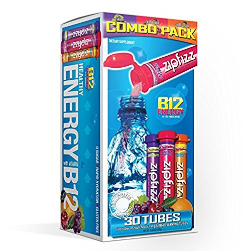 Zipfizz Healthy Energy Drink Mix, Variety, Value SP 3 Pack ( Total 90-Count ) by Zipfizz