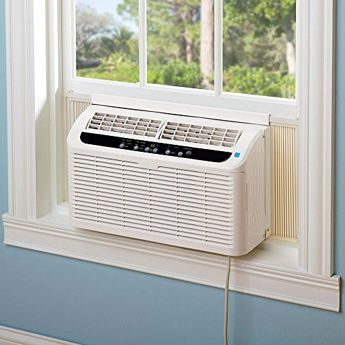 Quiet Window Air Conditioner Haier ESAQ406T-H 6000 BTU 115V with Digital Remote Control, 24 Hour Timer, & Sleep Setting - Includes 3 Speeds and 4 modes for up to 250 Sq Ft. EER Rating 11.2 CEER.
