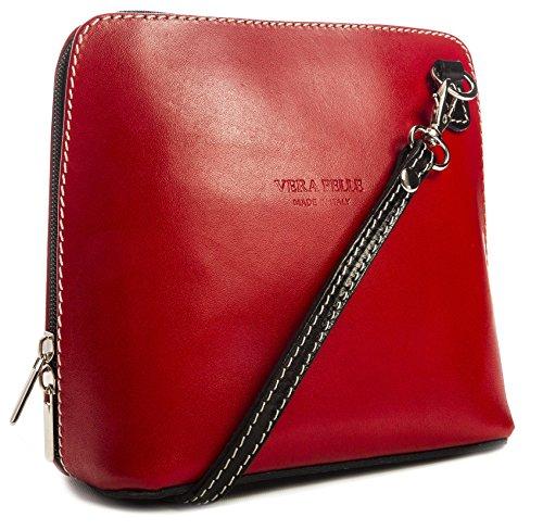 ABBY suave LiaTalia mujer de Rojo piel hombro de crossbody Negro z bolsa para protectora bolso Pequeño con wOOzpxnqT4