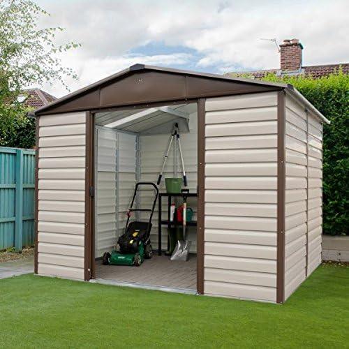Yardmaster cobertizo (Metal, 10 x 6 jardín cobertizo – barato cobertizos – Cobertizos: Amazon.es: Jardín