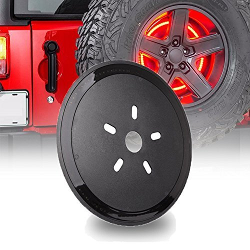 Spare Tire Brake Light LED Third Brake Light Lamp Ring for Jeep Wrangler 1986-2017 JK TJ LJ YJ CJ --AutoSky (Jeep Spare Tire)