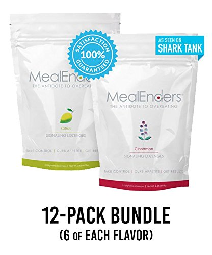 MealEnders Signaling Lozenges–Conquer Cravings, Curb Snacking, Beat Overeating, and Master Portion Control–Helps with Any Diet Weight Loss Program, 25-pc Pouch (Pack of 12) (Citrus/Cinnamon) by MealEnders