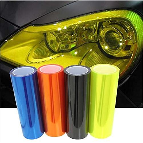 UXOXAS Car light membrane translucent membrane heterochrosis membrane scrub rear light film 100cm30cm, golden