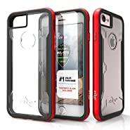iPhone 7 Case, Zizo [Shock Series] w/ FREE [iPhone 7 Screen Protector] Crystal Clear [Military Grade Drop Tested] Aluminum Metal Bumper Apple iPhone 7