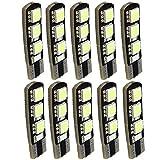 HOUTBY 10 X Super White T10 194 168 W5W 5050 LED 6 SMD LED Side Wedge Light Bulb