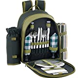 ALLCAMP Picnic Backpack for 2 with Cooler
