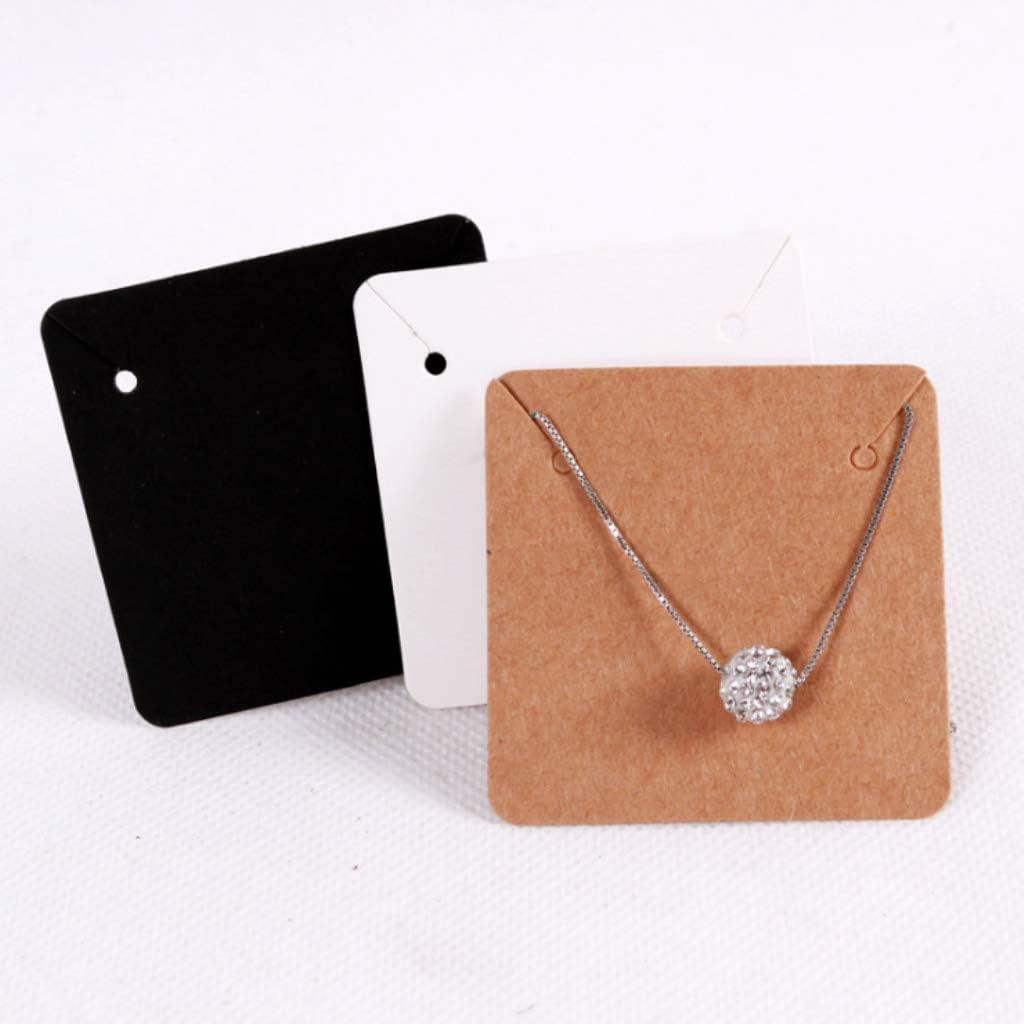 Almencla 100x Porte-Cartes de Boucle doreille Cartes dAffichage de Collier en Kraft Pr/ésentoir pour Affichage de Bijoux