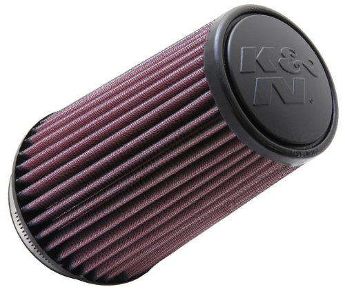 K&N RU-3130 Universal Clamp-On Air Filter: Round Tapered; 3.5 in (89 mm) Flange ID; 7 in (178 mm) Height; 4.625 in (117 mm) Base; 3.5 in (89 mm) Top