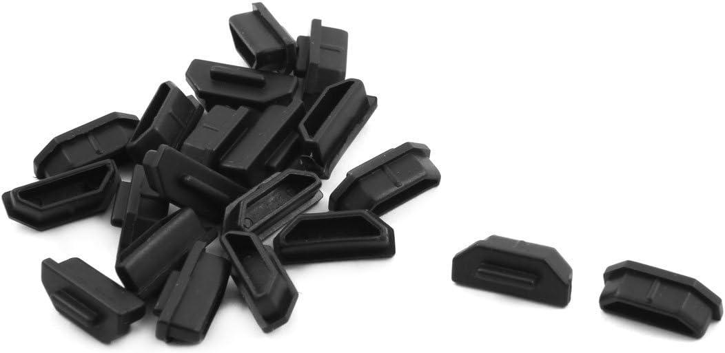 sourcing map Silicone Micro HDMI Male Port Anti-Dust Stopper Cap Cover Black 5pcs