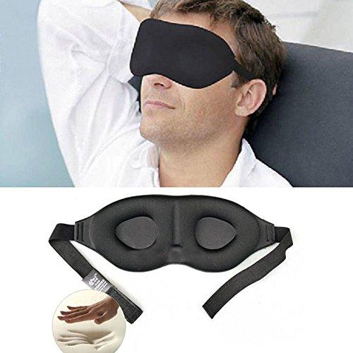 Cover Guard Mattress Rest (Gold Happy 3D Rest Eye Mask Memory Foam Padded Shade Cover Blindfold Sponge Eyeshade for Sleeping)