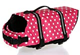 Wuudi Float Life Dog Life Jacket Medium Pet Dog Saver Life Vest Coat Medium with sunglasses
