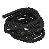Coldcedar Battle Rope Premium Workout Fitness Training Climbing Rope | 1.5/2in Diameter, 30/40/50ft Length Outdoor/Indoor Manila Gym Climbing Rope (2'' x 30ft)