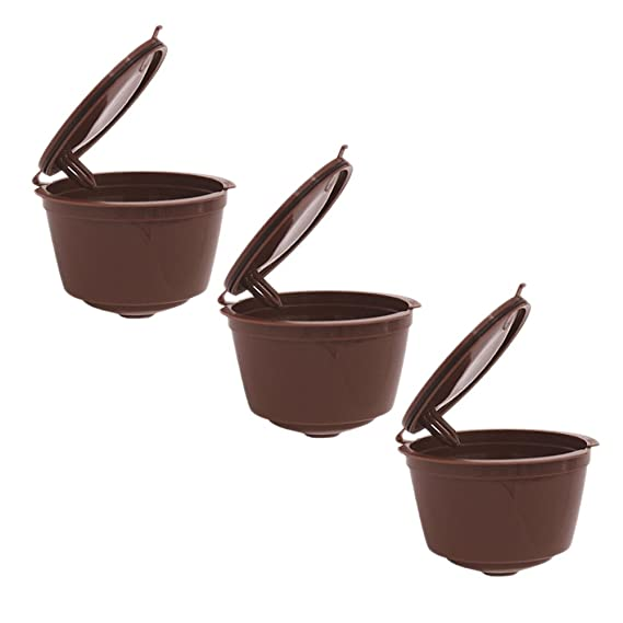 コーヒーカップ 詰め替え ゴシレ Gosear 3 PCS再使用可能なコーヒーフィルターカプセルカップNescafeドルチェGustoミニMe用Piccolo Genio Esperta Circolo
