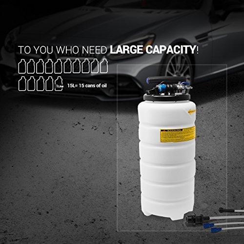 EWK Pneumatic / Manual 15 Liter Oil Changer Vacuum Fluid Extractor Pump Tank Remover by EWK (Image #1)