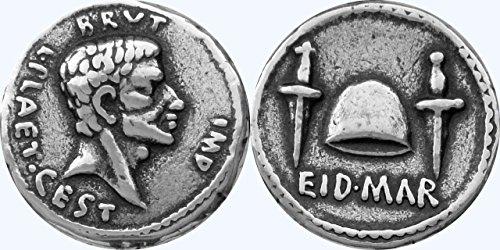 Roman Empire, Coin of Brutus, EID Denarius, Assassination of Julius Caesar, 20-S (Ancient Coins Roman Silver)