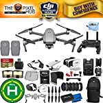 DJI Mavic 2 Zoom 2 Battery (Total) PRO Accessory Bundle with 32GB Micro SD, Sling Backpack, Filter Kit, Drone Vest, Landing Pad + Much More
