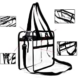 Clear Bag 12 X 12 X 6 , NFL and PGA Stadium Approved , Clear Tote Bag , Heavy Duty , Shoulder Straps and Zippered Top and Inside