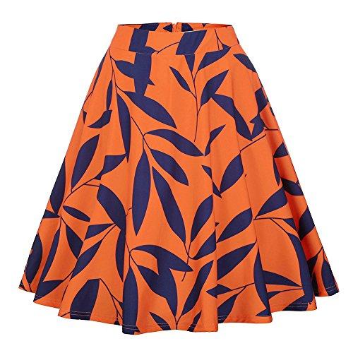 Wicky LS - Falda - trapecio - para mujer Orange Leaf