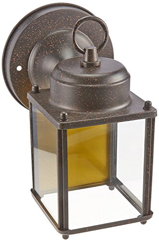 One-Light Exterior Wall Lantern (Rust Patina) Patina Outdoor Fixture
