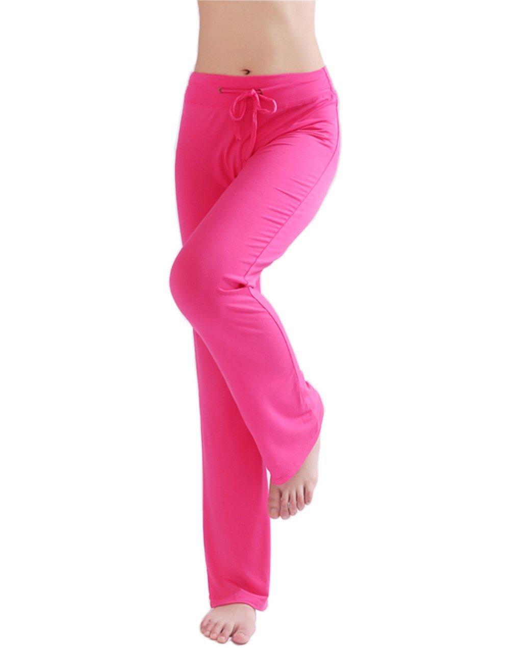 Hoerev Women's Soft Modal Slimming Lounge Pants Yoga Pants Pajama Pant