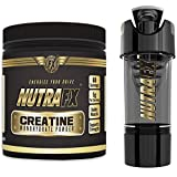 Micronized Creatine Monohydrate Powder - Unflavored - 5 G Per Serving - 60 Servings | With Hight tech Shaker | Best Creatine Bodybuilding Supplements - Pre Workout Endurance Supplements by NutraFX
